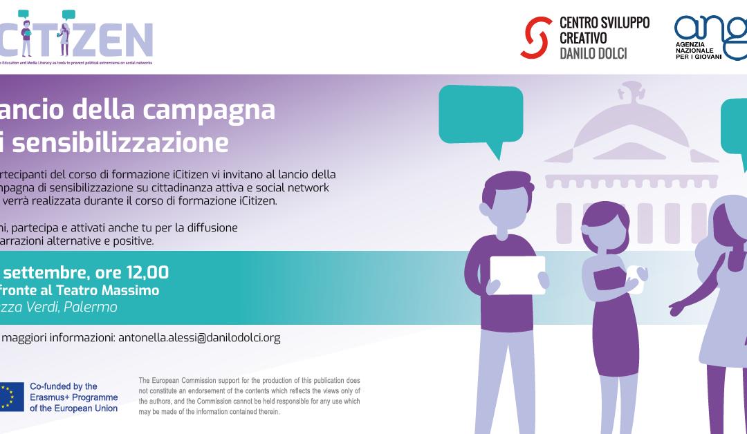 Unisciti al Lancio della Campagna di Sensibilizzazione iCitizen!. Diventa ambasciatore di narrazioni alternative e positive