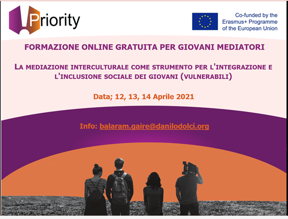 PRIORITY: Formazione online gratuita per i giovani mediatori